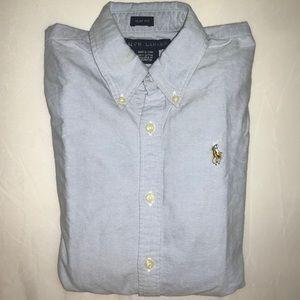 Ralph Lauren Oxford Shirt - Blue - Slim Fit Size 0